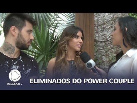 Thaís e Douglas não usaram estratégia e foram eliminados do Power Couple Brasil