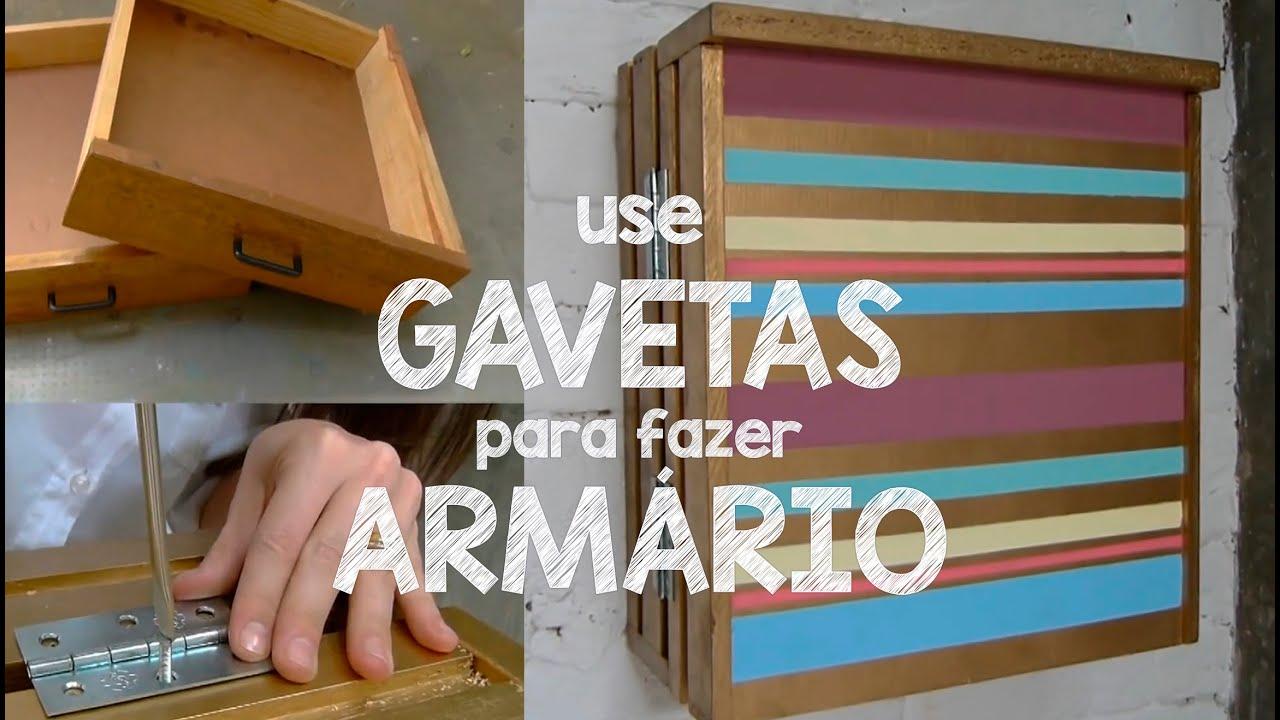 USE GAVETAS ANTIGAS PARA FAZER UM ARMÁRIO DE PAREDE   #6D4223 2326x1319