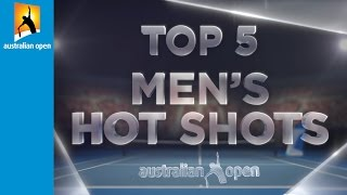 Top 5 men's hot shots | Australian Open 2016