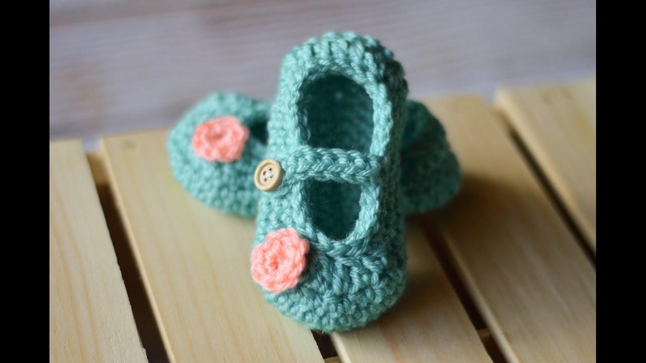 Little Dot Mary Janes Crochet Pattern - YouTube