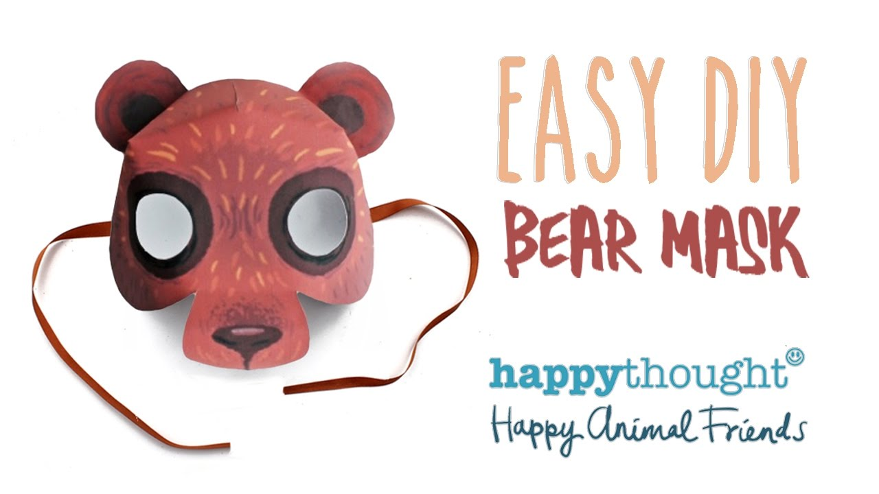 Printable bear mask te...