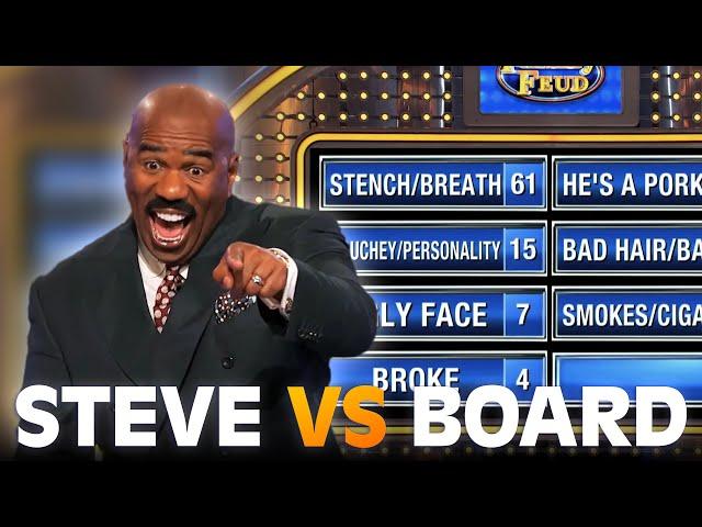 Steve Harvey MOCKED by the board!!! | Family Feud
