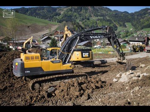 Caterpillar 349E & 735B Volvo 380D & 380E  Komatsu PC240 ~ Marjollet TP - Gravier TP | La Clusaz