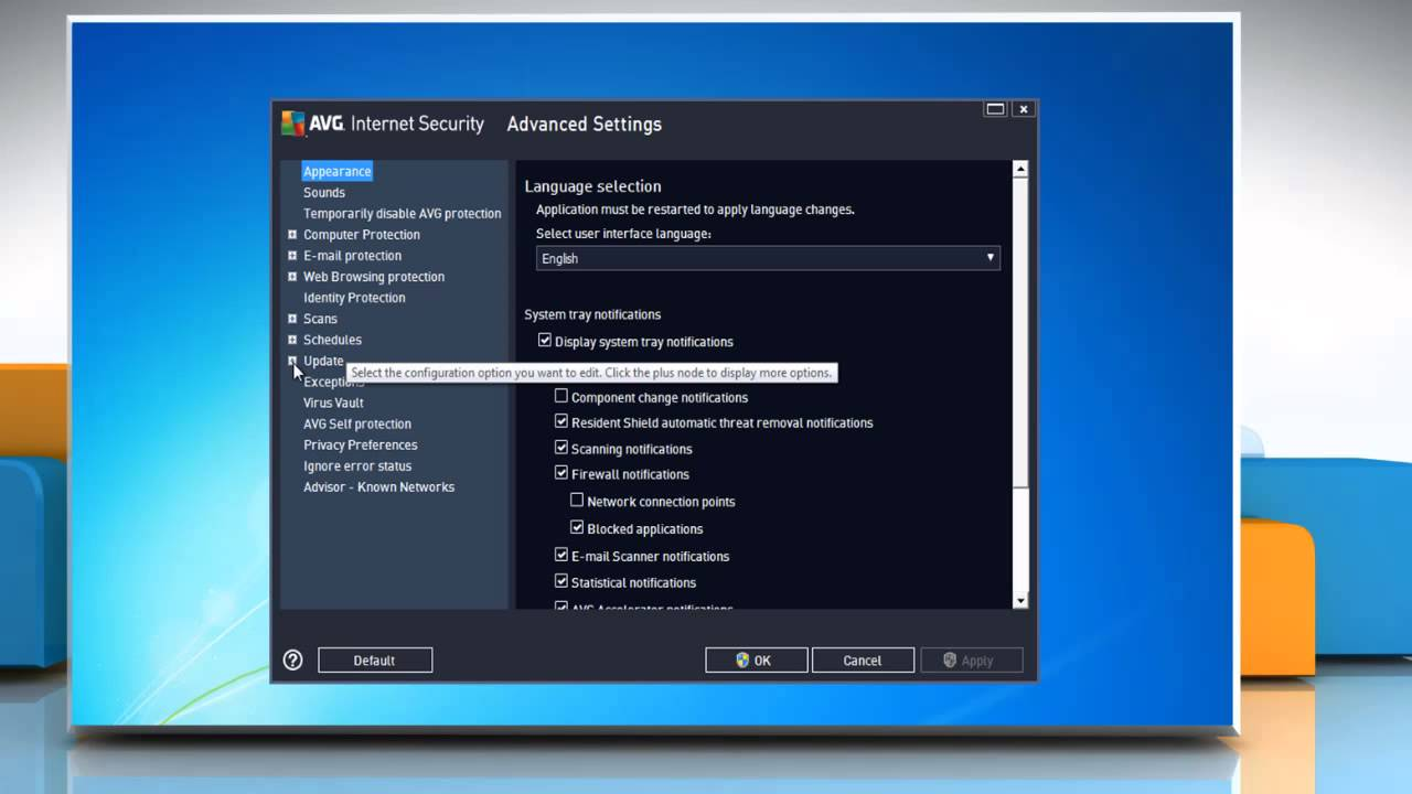 how to update avg manually from file