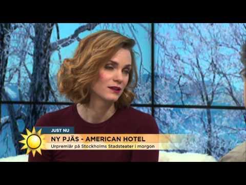 """Ny pjäs om livet - """"American Hotel"""" - Nyhetsmorgon (TV4)"""