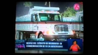 Ejército de Nicaragua Desfile Militar de Vehículos y Técnica Militar en su XXXIV Aniversario