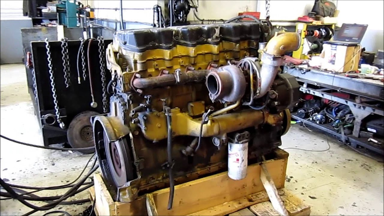 1999 Caterpillar 3406E Diesel Engine Running  YouTube