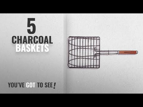 Top 10 Charcoal Baskets [2018]: Charcoal Companion Non-Stick Triple Fish Grilling Basket
