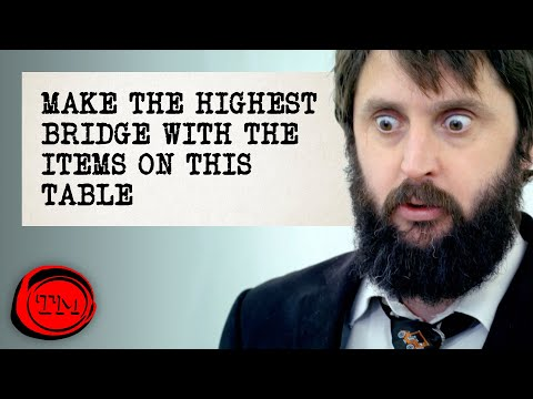 Make The Highest Bridge With The Items On The Table - FULL TASK