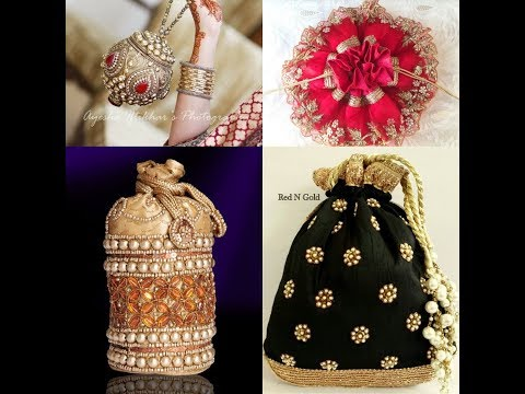 Indian purses potli bags colour full embroidery designs potli bag stylish designsFashion lovers