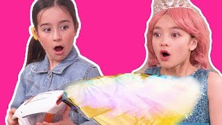 MAGIC VACUUM CLEANER ✨ CLEANING SAVES THE PRINCESSES DAY   - Princesses In Real Life | Kiddyzuzaa