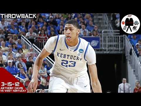 Anthony Davis Kentucky Full Highlights vs West Kentucky 2nd Rd (3-15-12) 16 Pts 9 Rebs 7 Blks