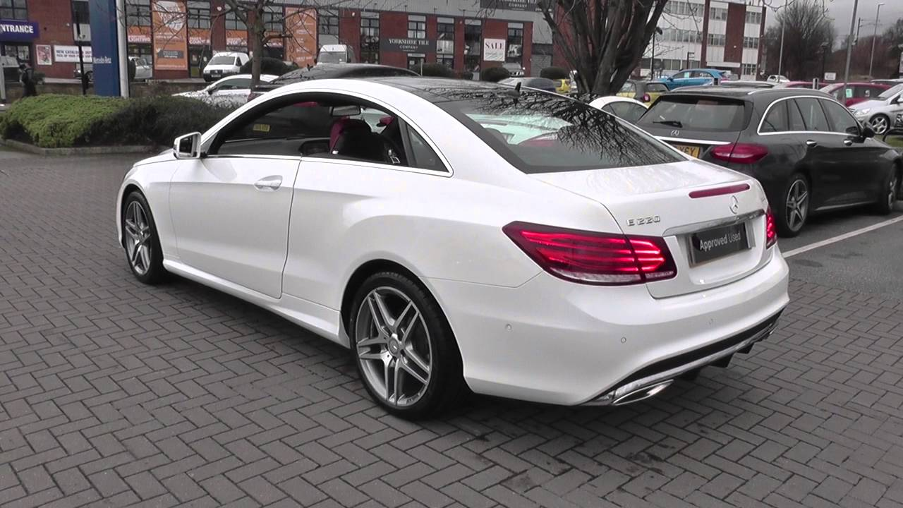 mercedes benz e class coupe e220 bluetec amg line coupe u24579 youtube. Black Bedroom Furniture Sets. Home Design Ideas