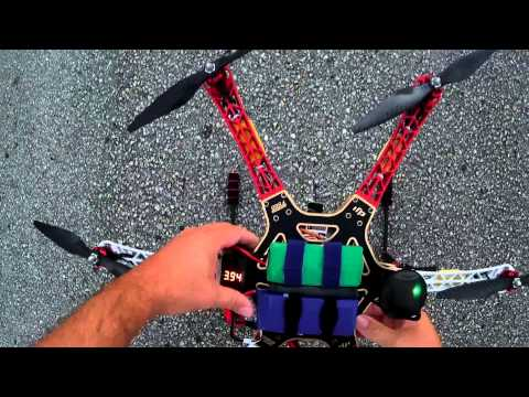 DJI F550 Flamewheel Hexacopter Final Battery & Tests