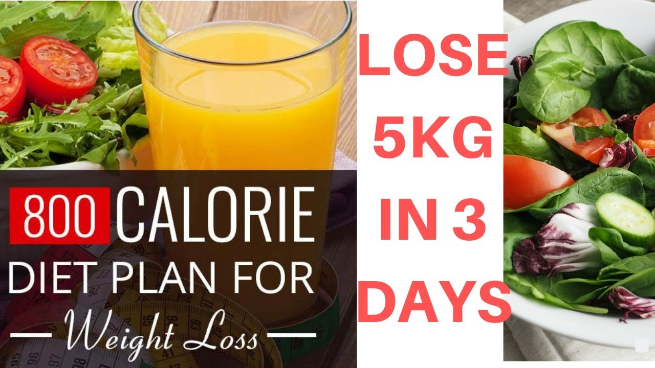 800 CALORIE DIET PLAN |HOW TO LOSE 5KG IN 3 DAYS # ...