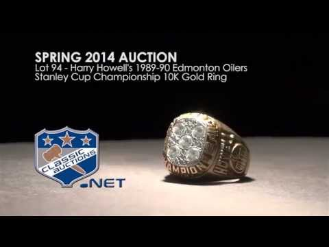 Harry Howell's 1989-90 Edmonton Oilers Stanley Cup Championship 10K Gold Ring