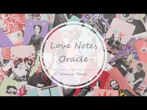 開箱  愛的筆記神諭卡 • Love Notes Oracle // Nanna Tarot
