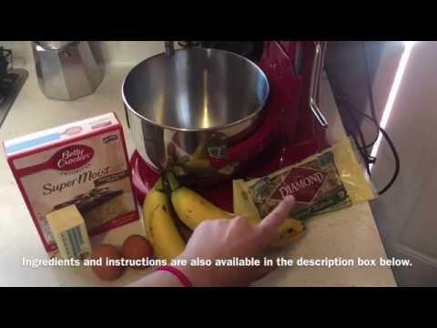How to make CAKE MIX BANANA BREAD ITS SO EASY!