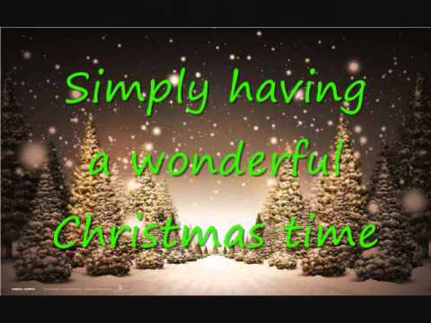 simply having a wonderful christmas time paul mccarney lyrics - Wonderful Christmas Time