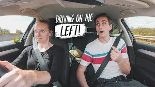Americans FIRST TIME DRIVING In UK! (Bristol, England to Cotswolds - Road Trip Part 1)