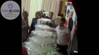 Пирамида из бокалов с шампанским на свадьбу Харьков  заказать 0633551233,0971663