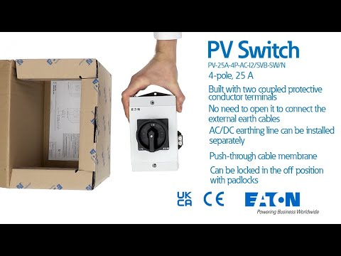 Eaton PV Maintenance switch PV-25A-4P-AC-I2/SVB-SW/N