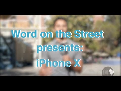 Word on the Street: iPhone X
