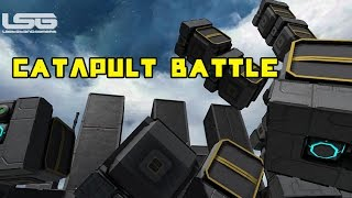 Space Engineers - Catapult Battle, Medieval Warfare, Tumbling Castle
