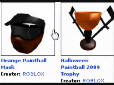 My Trophy And Hat I Won At Roblox Halloween Paintball Not Fake Youtube