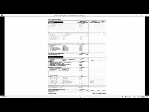 Closing Disclosure and Settlement Statement/Loan Signing
