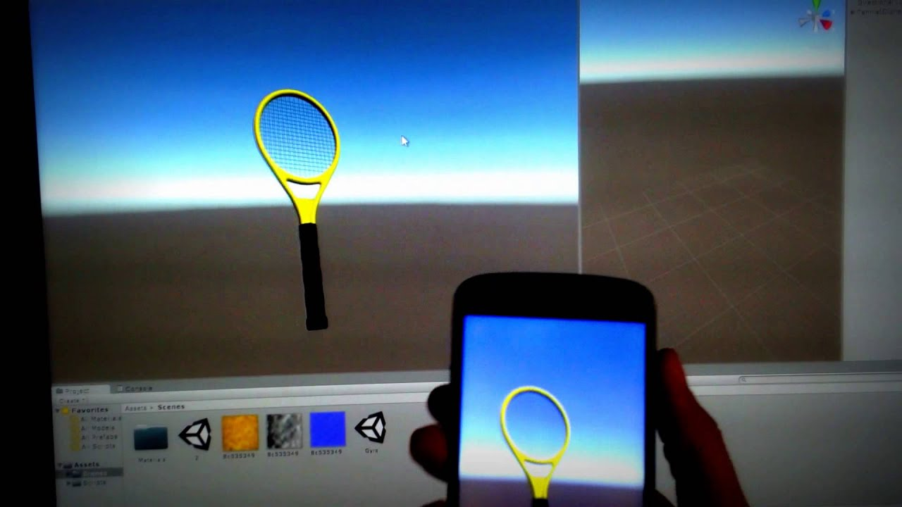 gyro motion on unity 3d android test