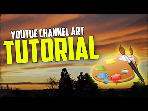 How To Make A YouTube Banner And Logo! (Voice Tutorial)