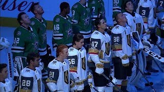Stars stand with Golden Knights during moment of silence