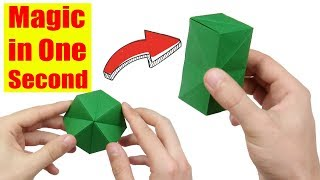 Easy Origami Magic Transforming Flexahedron (Jeremy Shafer) - Yakomoga Origami tutorial