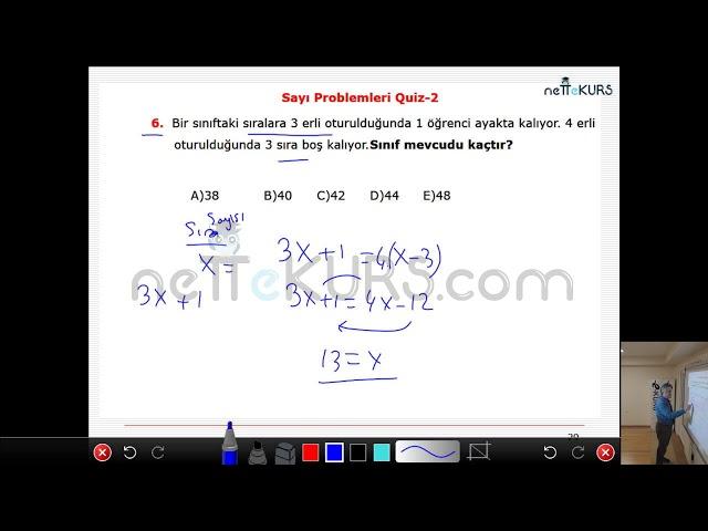 nettekurs.com Online TYT Kursu Matematik Dersleri - 5 / Sayı Problemleri - 1