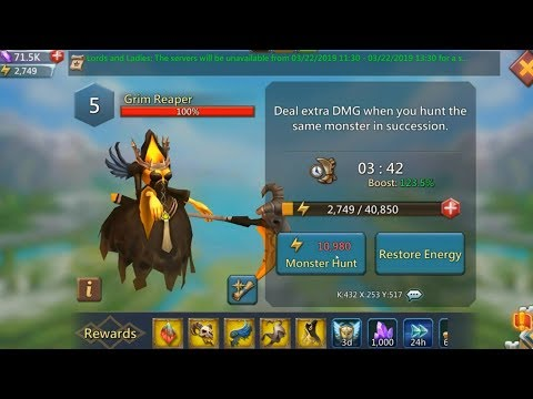Lords Mobile Monster Hunting Research   3 Research In 1 Day   Watcher Blue