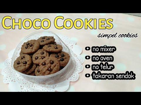resep-cookies-coklat-||-takaran-sendok,-no-oven,-no-mixer,-no-telur