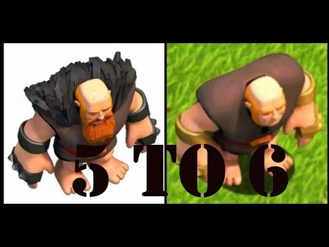 Clash Of Clans - Finishing The Upgrade Of Level 5 Giants To Level 6 Awesome