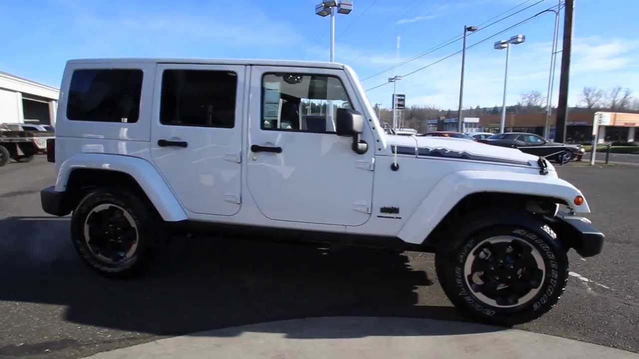 2014 jeep wrangler unlimited polar edition white el180899 mt vernon skagit youtube. Black Bedroom Furniture Sets. Home Design Ideas