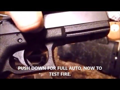 GLOCK FULL AUTO CONVERSION USING ITEMS FROM HOME
