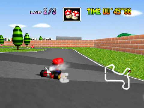 mario kart 64 mario circuit youtube. Black Bedroom Furniture Sets. Home Design Ideas