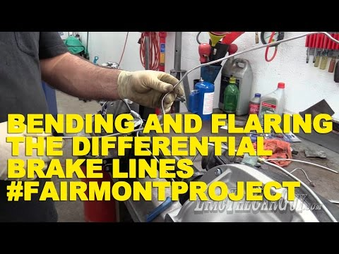 Bending and Flaring the Differential Brake Lines #FairmontProject