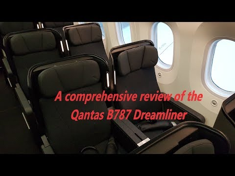 Qantas B787 Dreamliner full review business, premium and economy. MEL-PER QF775