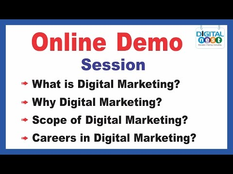 Digital Marketing Course Online training Demo Tutorial | Digital nest