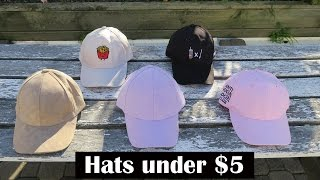 AFFORDABLE HATS FOR UNDER $5! | Aliexpress Haul - Dad hats / Baseball hats / Strapback / Snapback