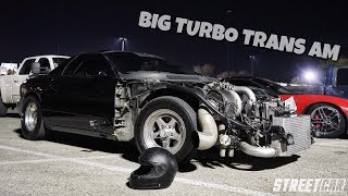CRAZY 1000hp Turbo Trans Am takes on Twin Turbo Mustang & MORE!!! (MUST WATCH STREET RACING)