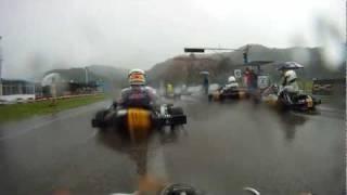 Semi-Final, China National Kart Championship 2011, kart race in wet rain race