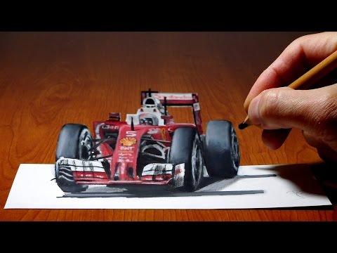 3d-trick-art-on-paper-ferrari-formula-1