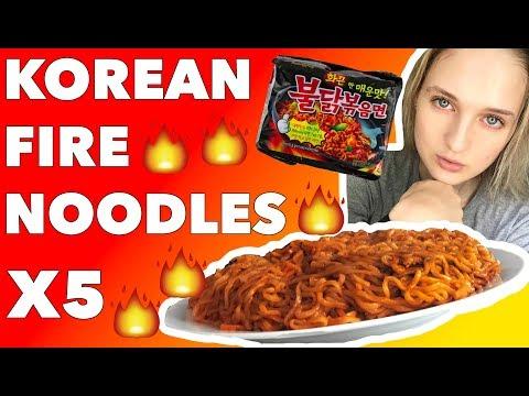 KOREAN FIRE NODDLE CHALLENGE X 5