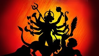 how to draw Maa Durga in Silhouette||very easy||step by step